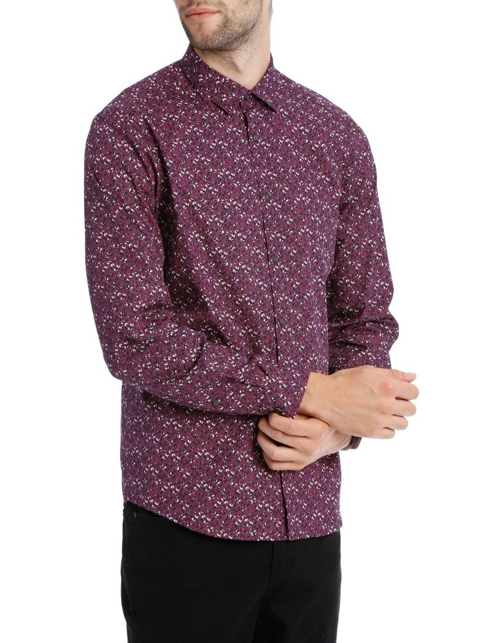 Lyric Micro Printed Long Sleeve Relaxed Shirt image 2