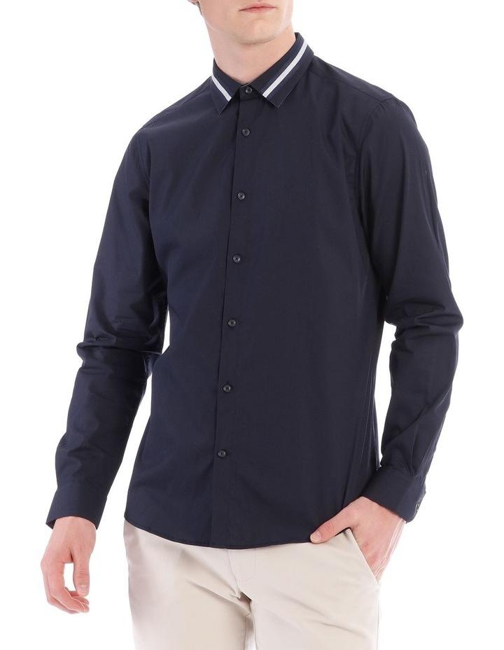 Larvik Poplin Detail Collar Long Sleeve Slim Shirt image 1