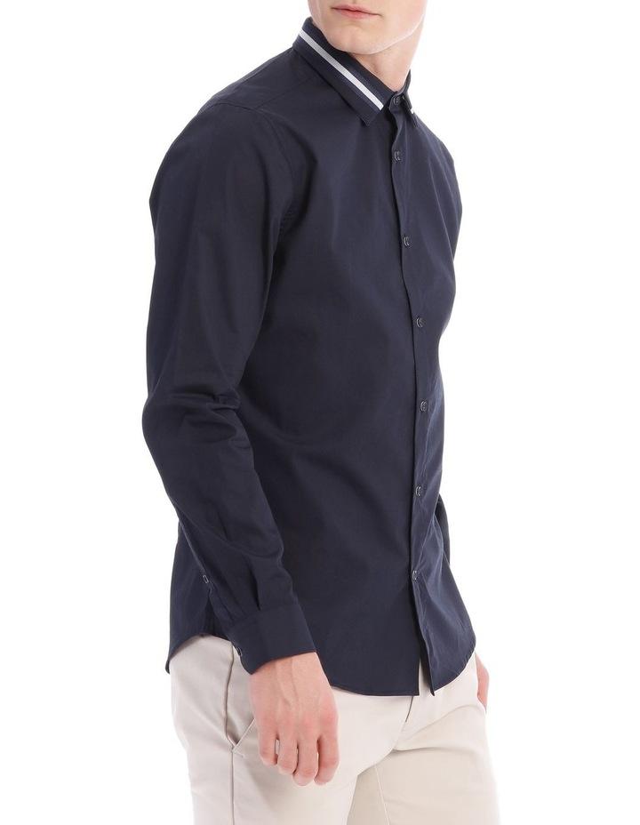 Larvik Poplin Detail Collar Long Sleeve Slim Shirt image 2
