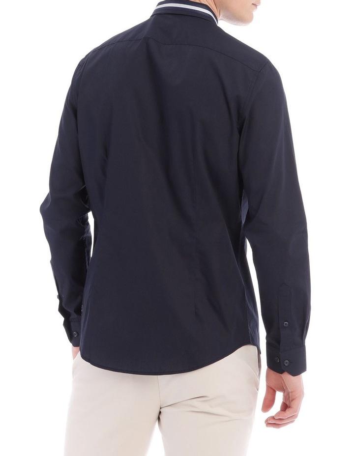 Larvik Poplin Detail Collar Long Sleeve Slim Shirt image 3