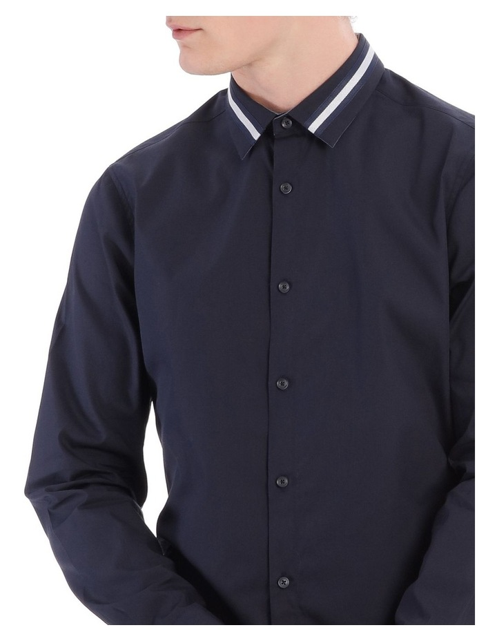 Larvik Poplin Detail Collar Long Sleeve Slim Shirt image 4