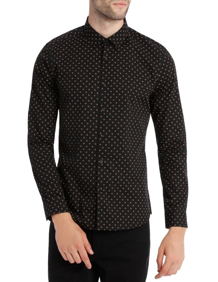 OVAL PRINTED LS SLIM SHIRT image 1