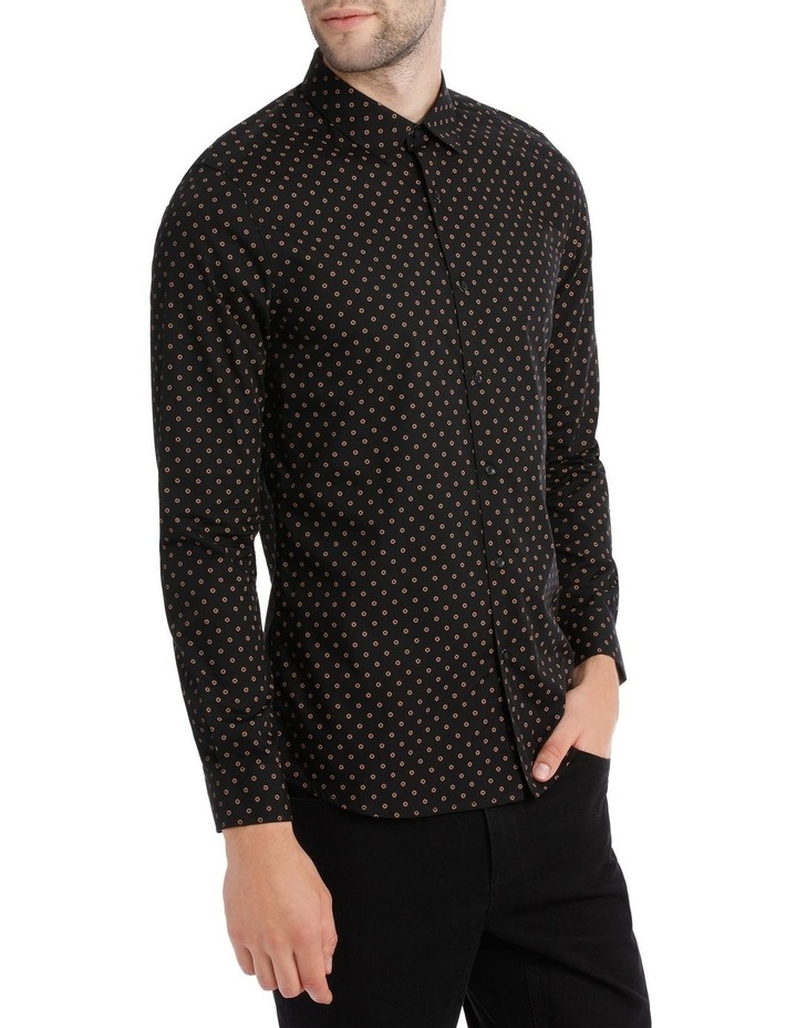 OVAL PRINTED LS SLIM SHIRT image 2