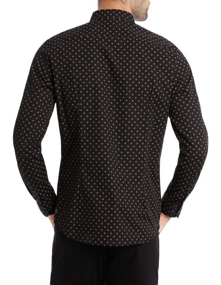 OVAL PRINTED LS SLIM SHIRT image 3