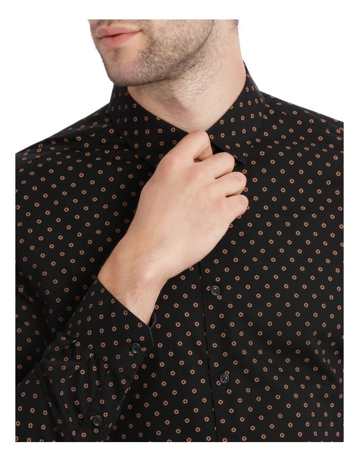 OVAL PRINTED LS SLIM SHIRT image 4