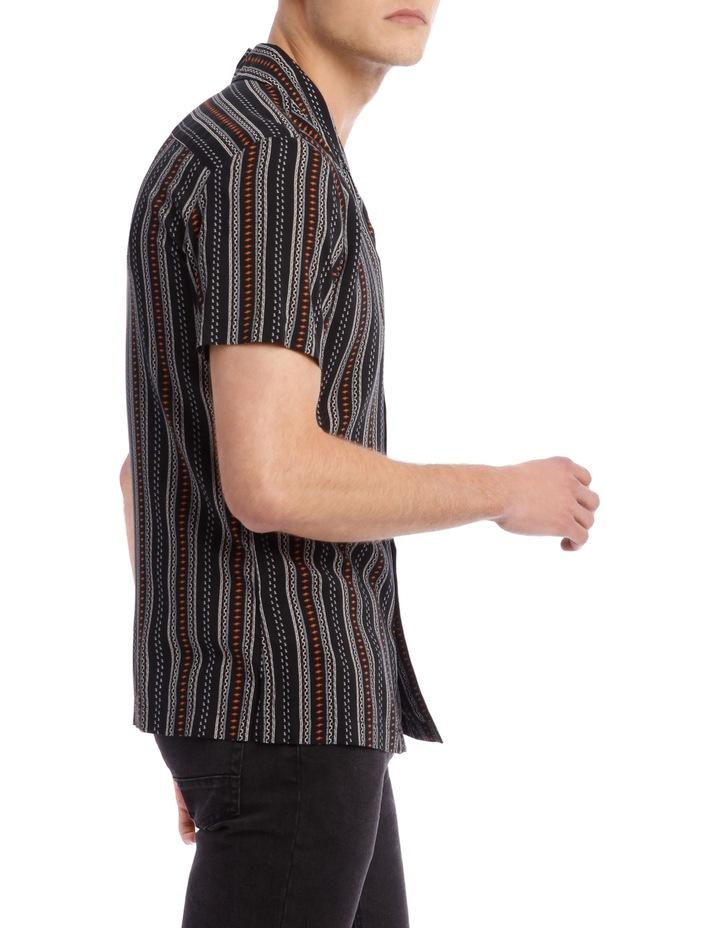 Zulu Printed Stripe Short Sleeve Resort Shirt image 2