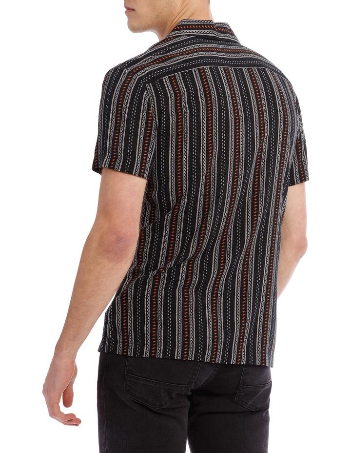 Zulu Printed Stripe Short Sleeve Resort Shirt image 3