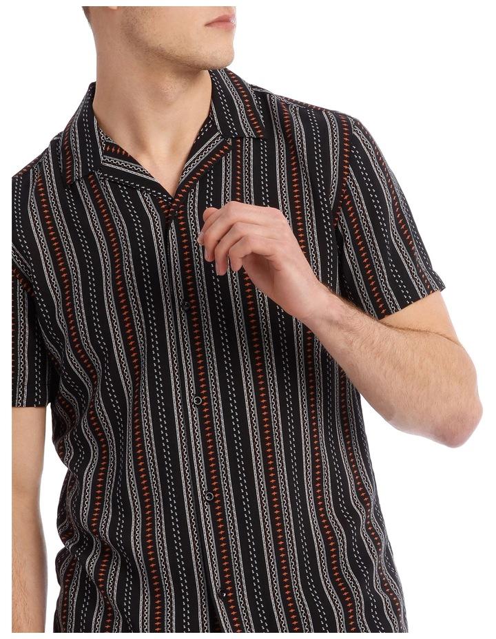 Zulu Printed Stripe Short Sleeve Resort Shirt image 4