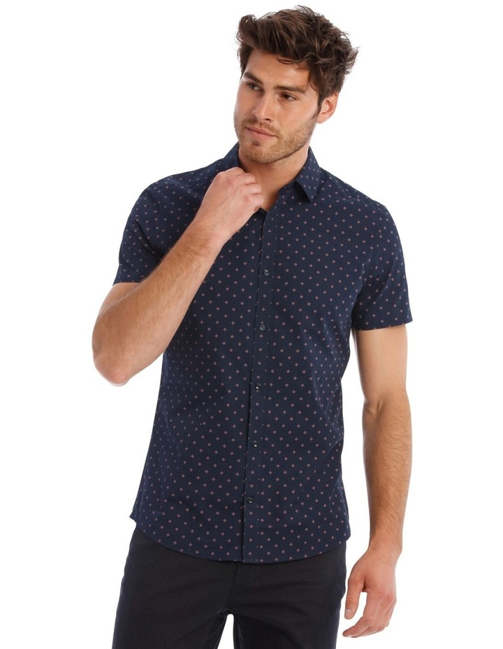 Mark Micro Print SS Slim Shirt image 1