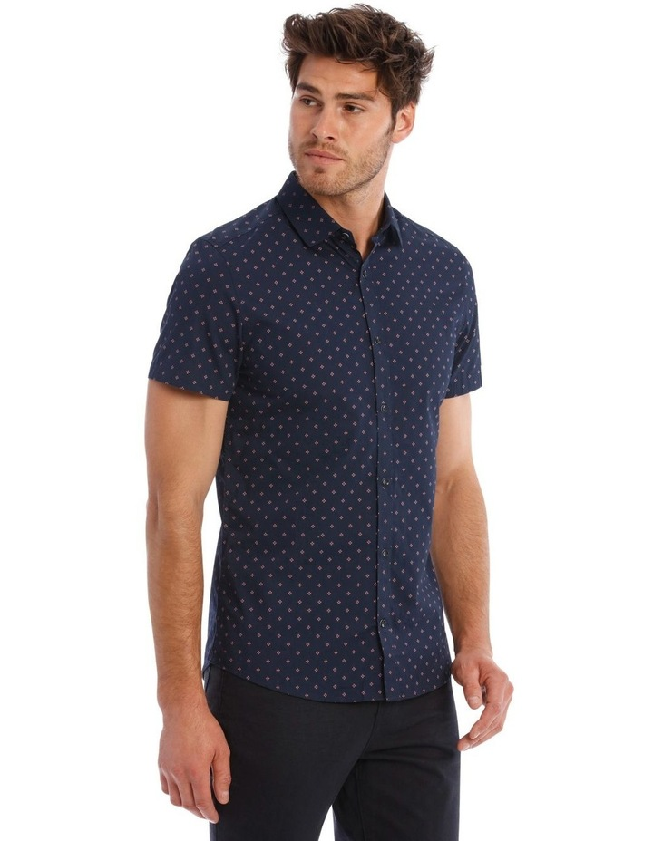 Mark Micro Print SS Slim Shirt image 2