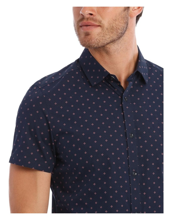 Mark Micro Print SS Slim Shirt image 4
