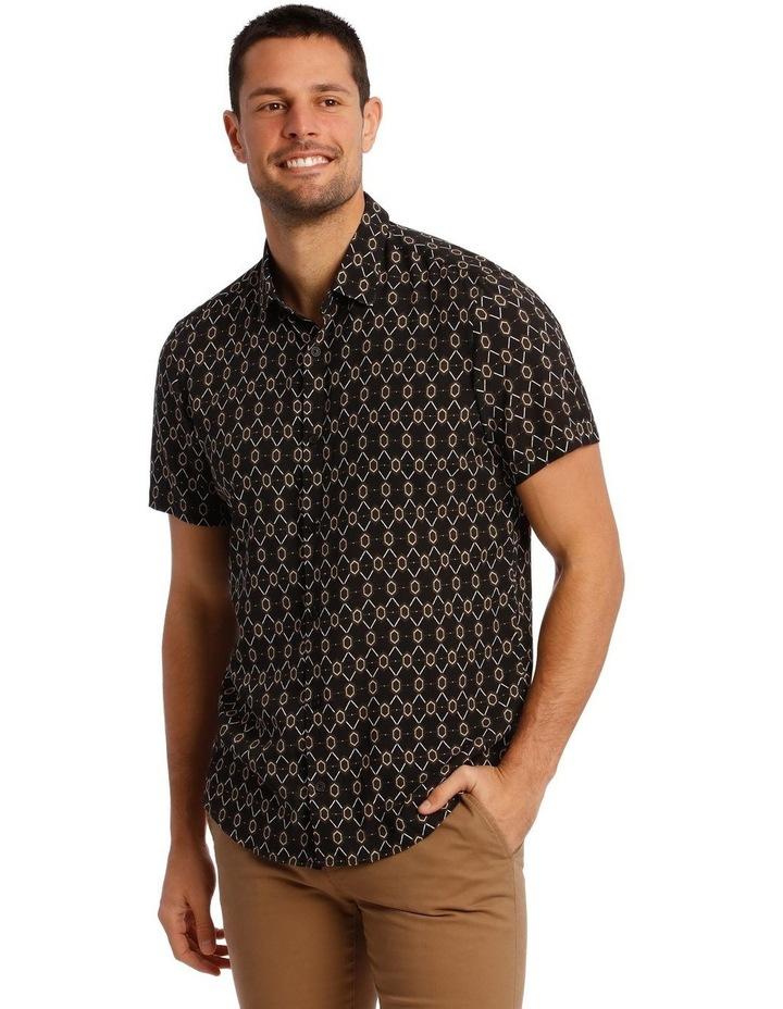 Klimt Print Rayon Short Sleeve Shirt image 1