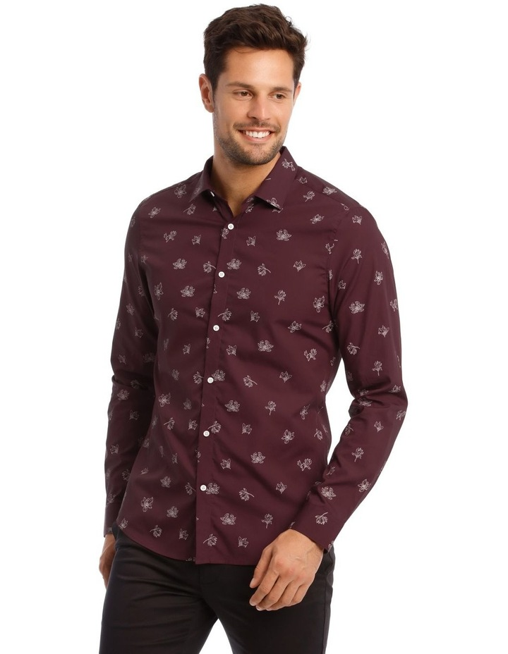 Feder Microprint Long-Sleeve Shirt image 1