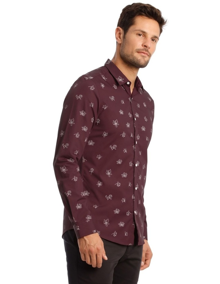 Feder Microprint Long-Sleeve Shirt image 3
