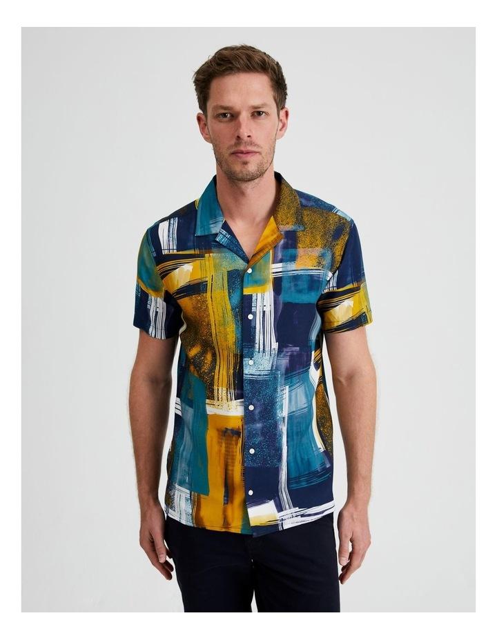 Harajuku Print Short Sleeve Shirt image 1