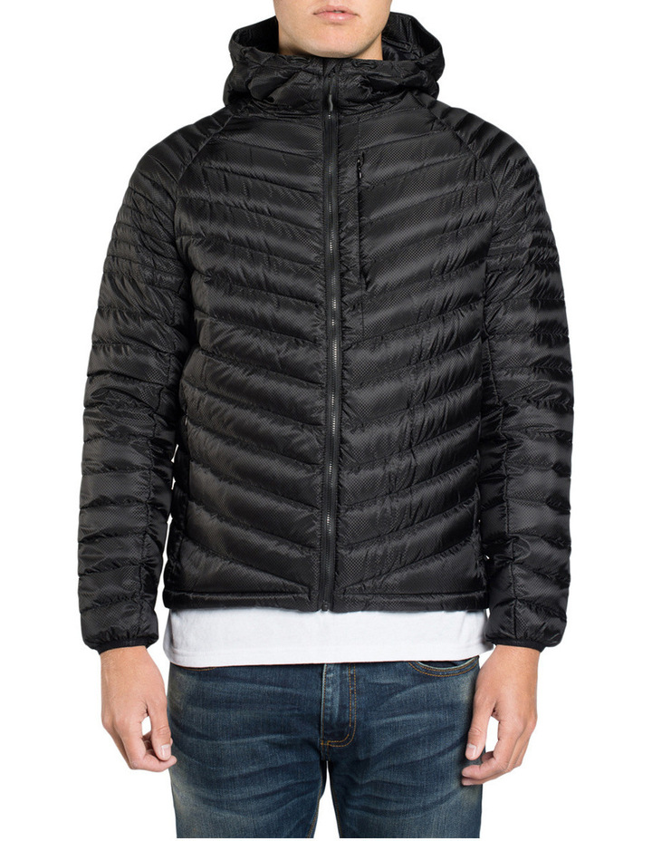 Micro Quilt Down Hooded Jacket image 1