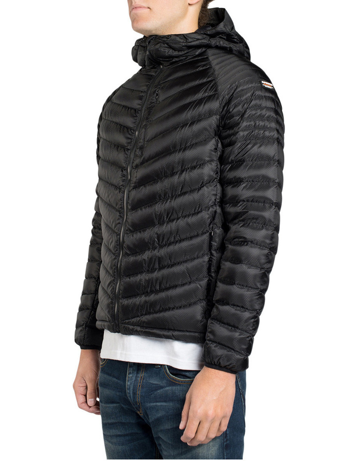 Micro Quilt Down Hooded Jacket image 2