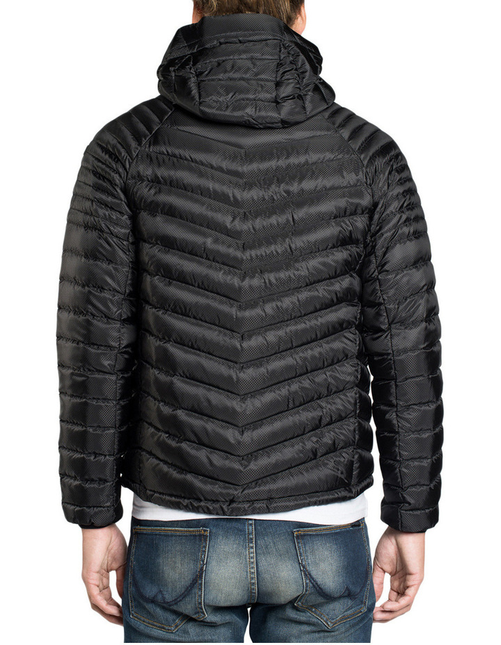 Micro Quilt Down Hooded Jacket image 3