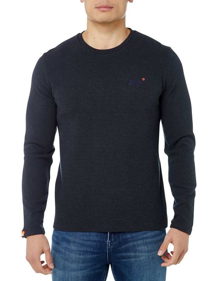 Orange Label Texture Long Sleeve Tee image 1