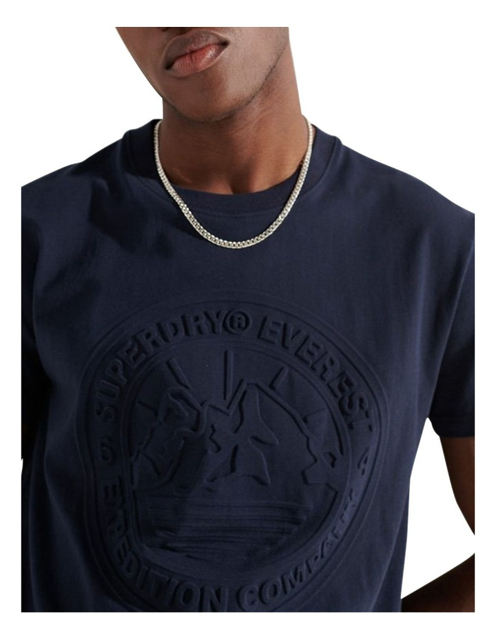 Expedition Emboss Tee Navy image 1