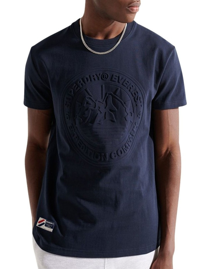 Expedition Emboss Tee Navy image 2