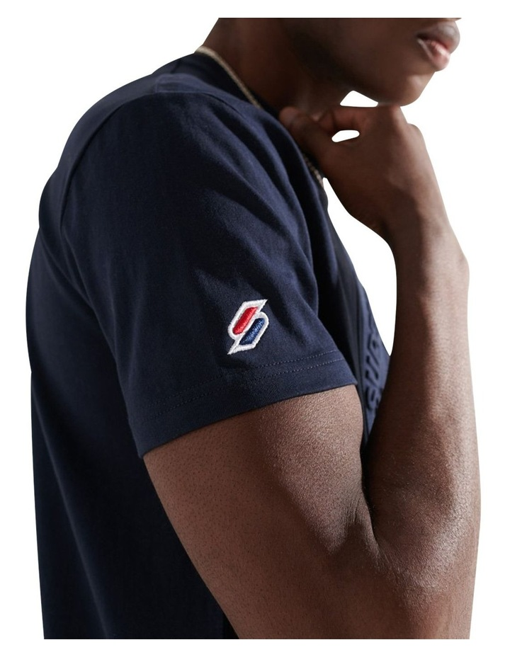 Expedition Emboss Tee Navy image 4