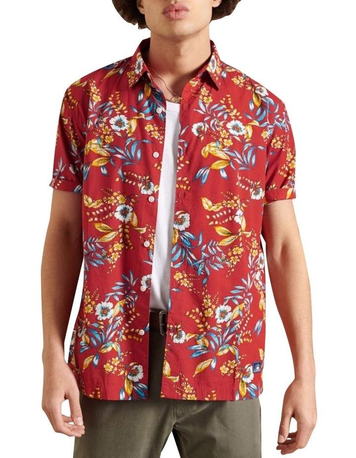 Hawaiian Box Fit Shirt Red image 1
