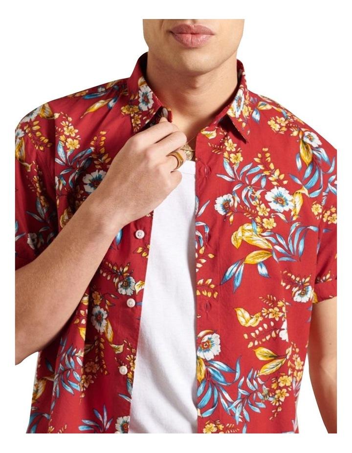 Hawaiian Box Fit Shirt Red image 3