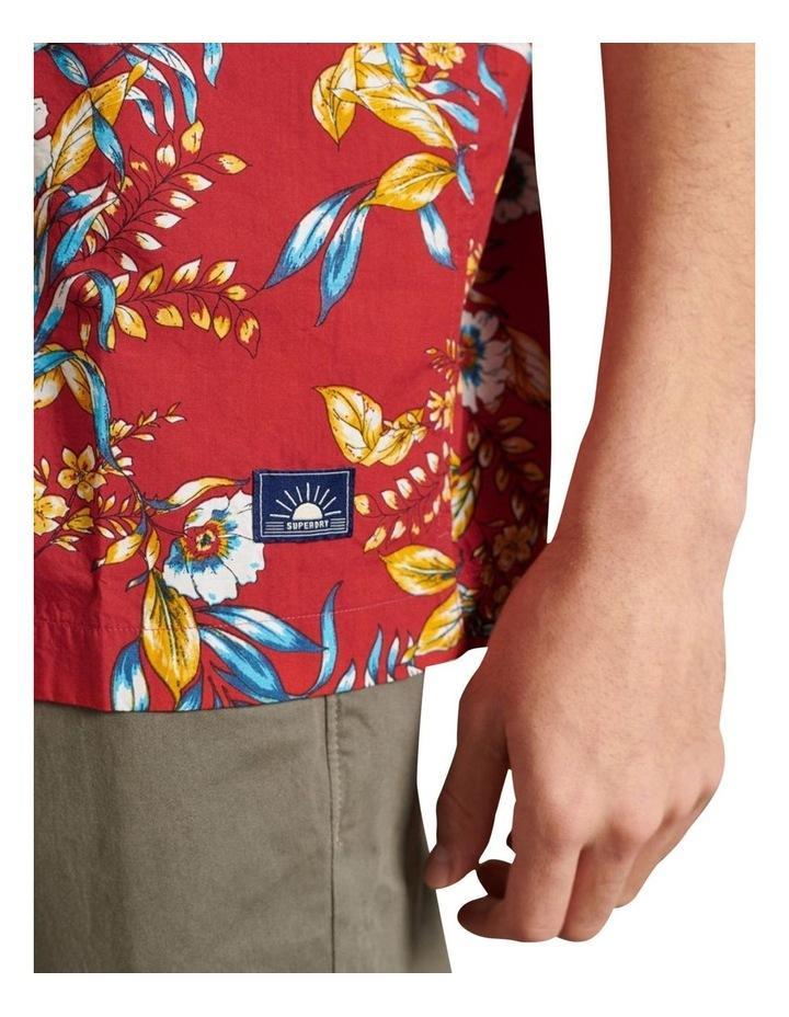 Hawaiian Box Fit Shirt Red image 5