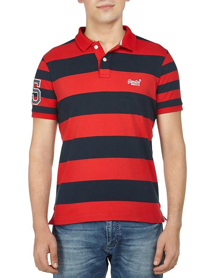 Louder Stripe Short Sleeve Polo image 1