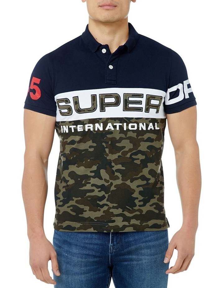 INT'L CAMO S/S JERSEY POLO image 1