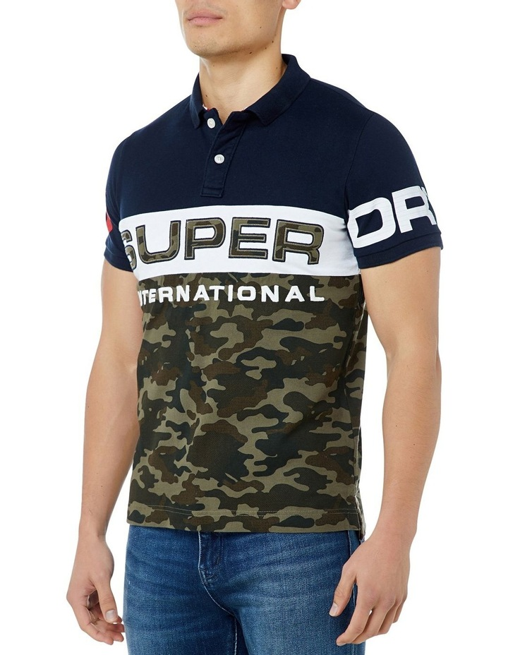 INT'L CAMO S/S JERSEY POLO image 2