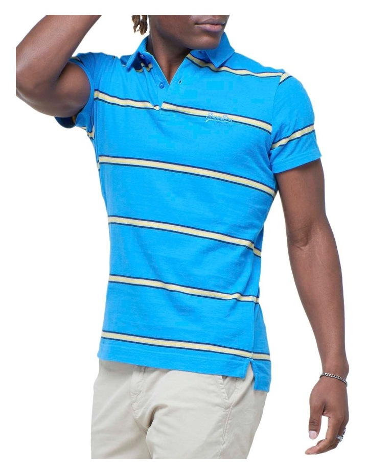 Academy Stripe Polo Blue Stripe image 1