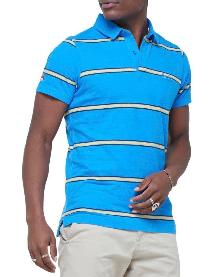 Academy Stripe Polo Blue Stripe image 3