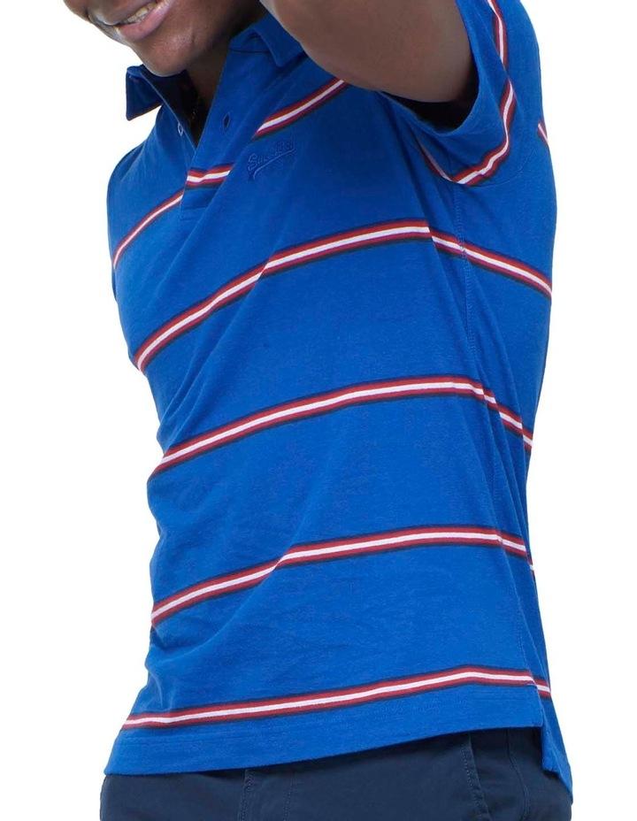 Academy Stripe Polo Blue image 1