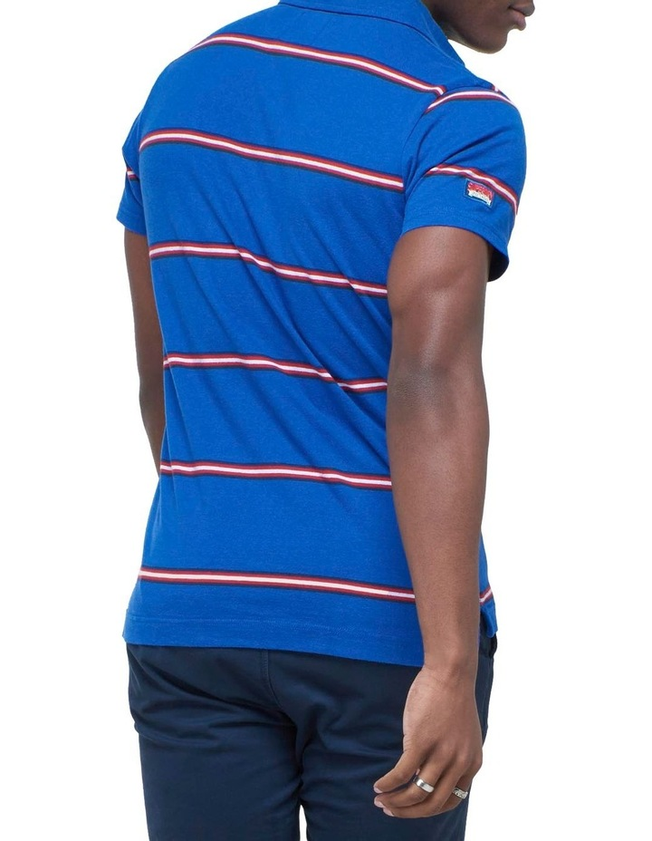Academy Stripe Polo Blue image 3
