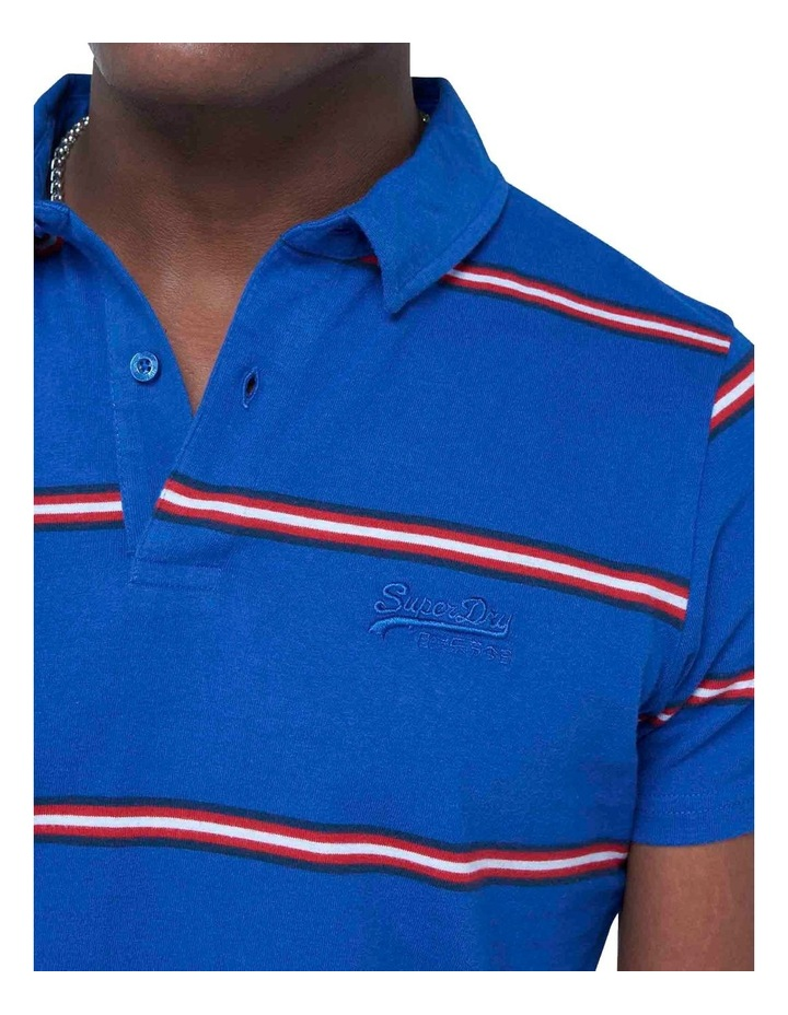 Academy Stripe Polo Blue image 4