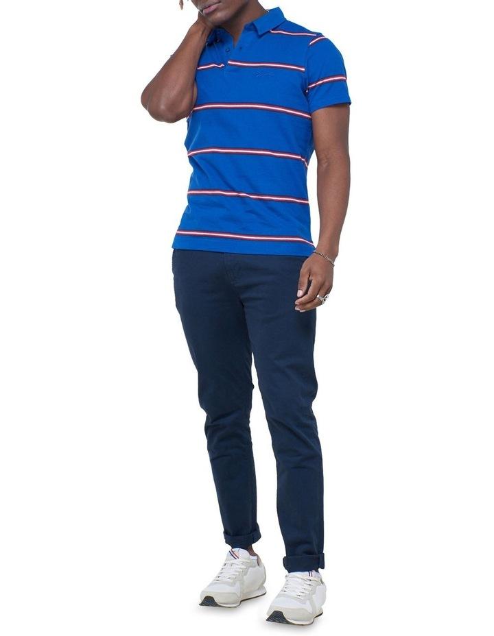 Academy Stripe Polo Blue image 6