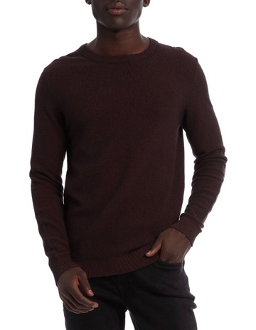 JACK /& JONES Core New Mens Smash Knit Regular Cotton Jumper Crew Neck Sweater