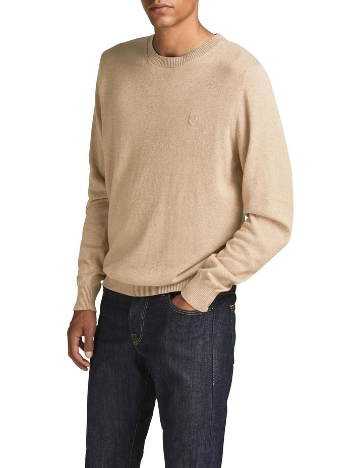 Ray Cashmere Crew Neck Knit Camel image 1