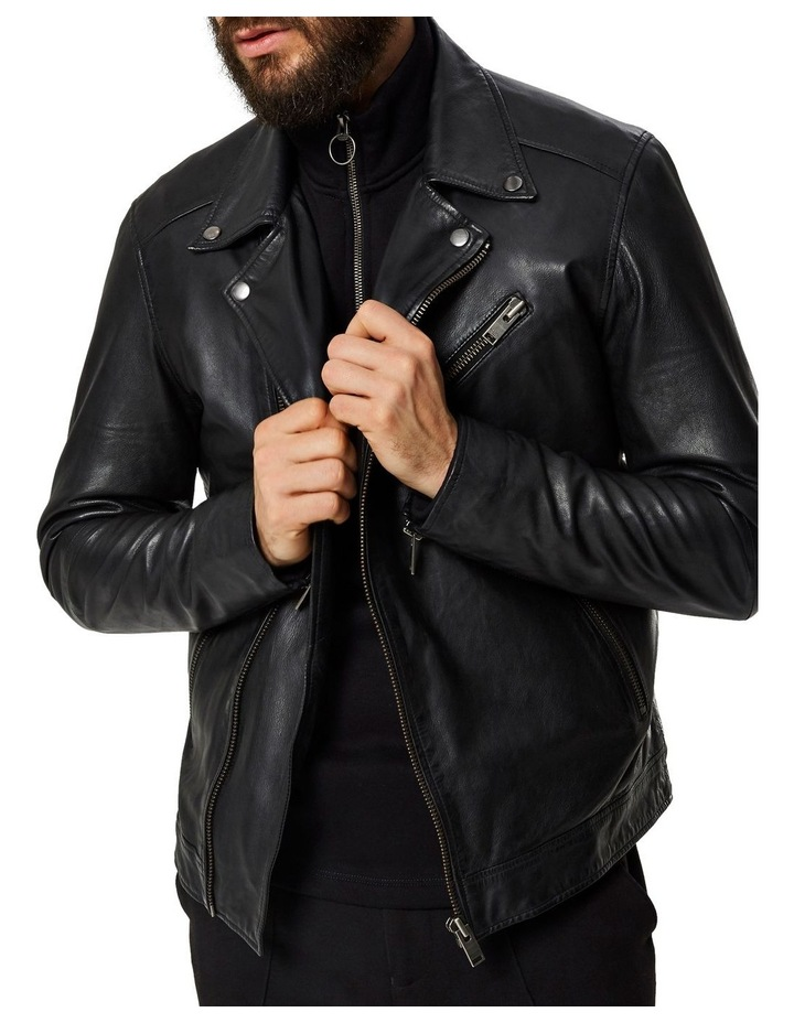 B-02 BIKER LEATHER JACKET image 1