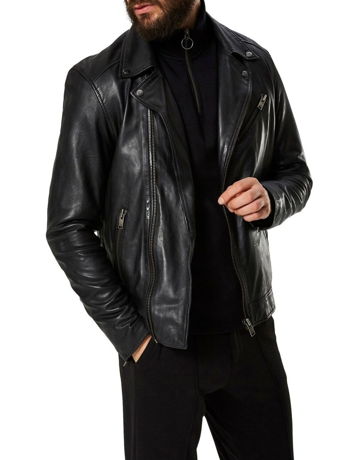 B-02 BIKER LEATHER JACKET image 3