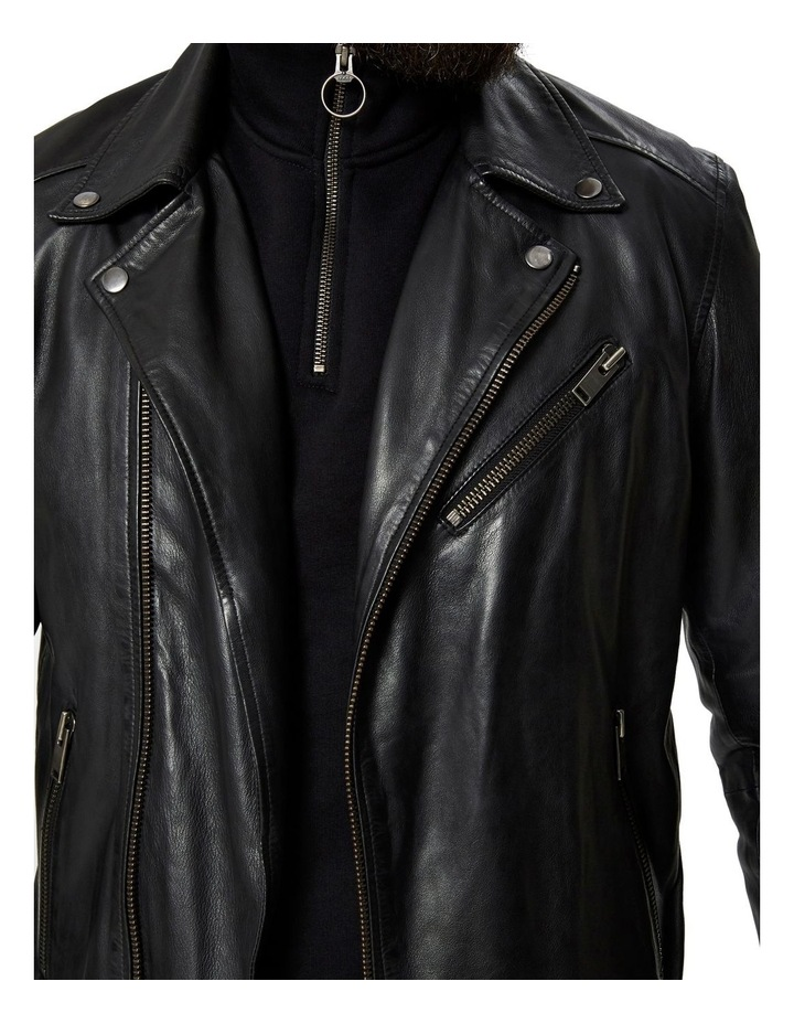 B-02 BIKER LEATHER JACKET image 4