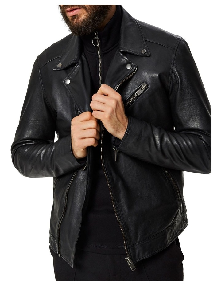 B-02 BIKER LEATHER JACKET image 5