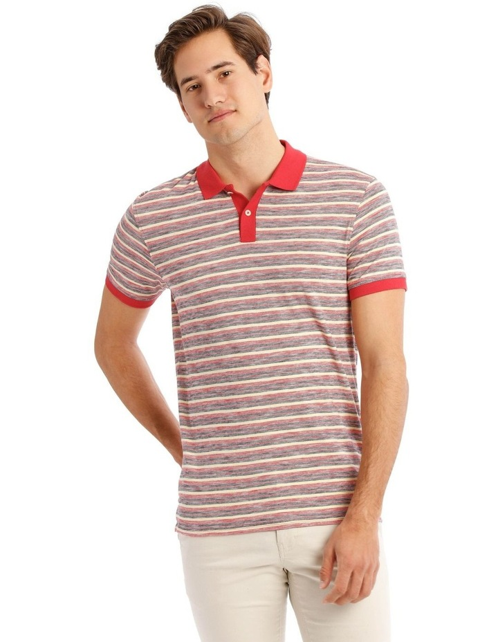 Kasper Stripe Short Sleeve Polo image 1
