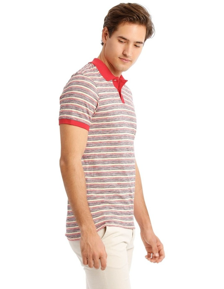 Kasper Stripe Short Sleeve Polo image 2