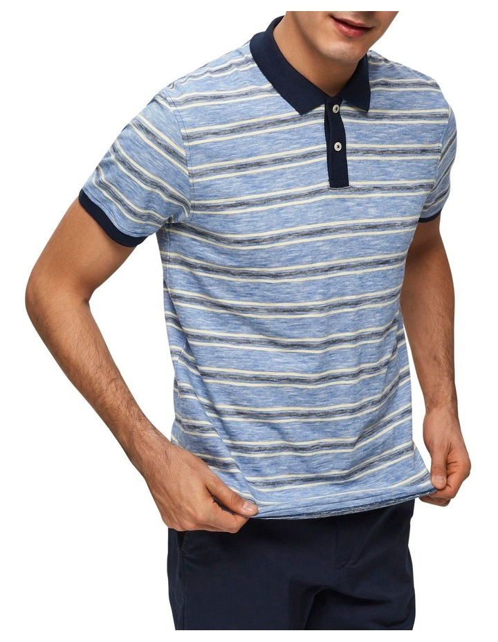 Kasper Stripe Short Sleeve Polo image 3