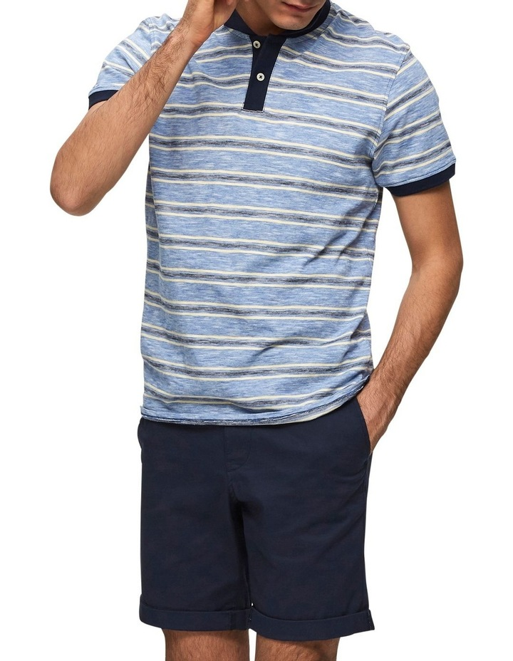 Kasper Stripe Short Sleeve Polo image 4