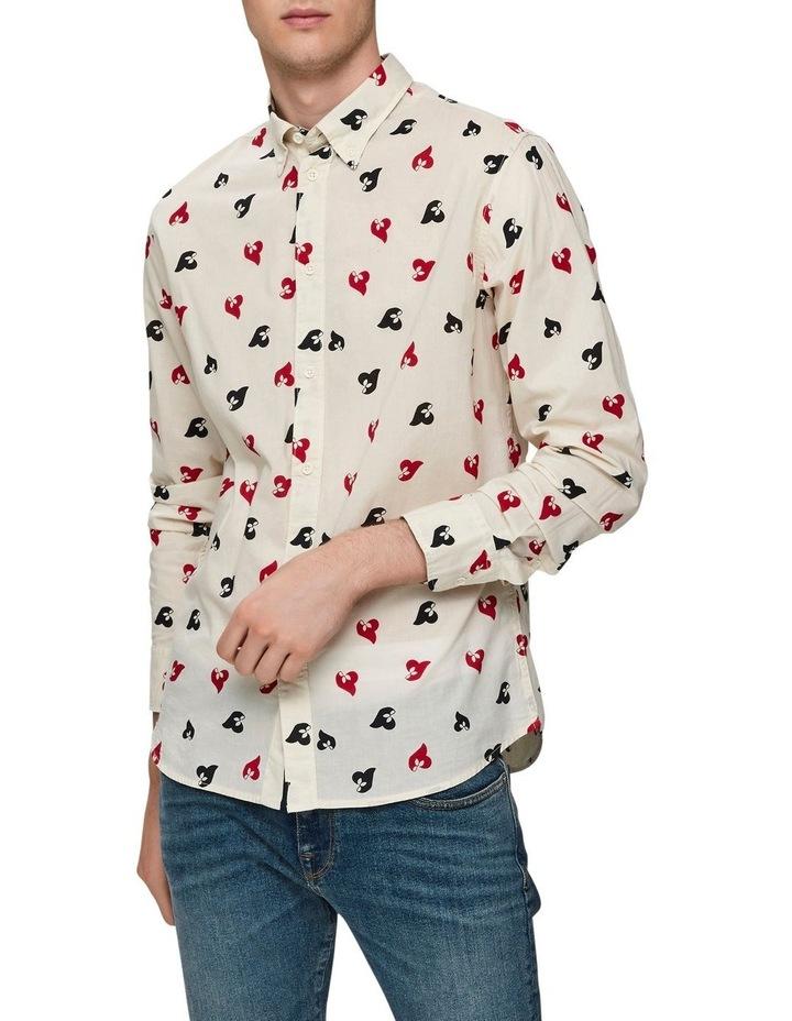 Printed Long Sleeve Shirt image 1