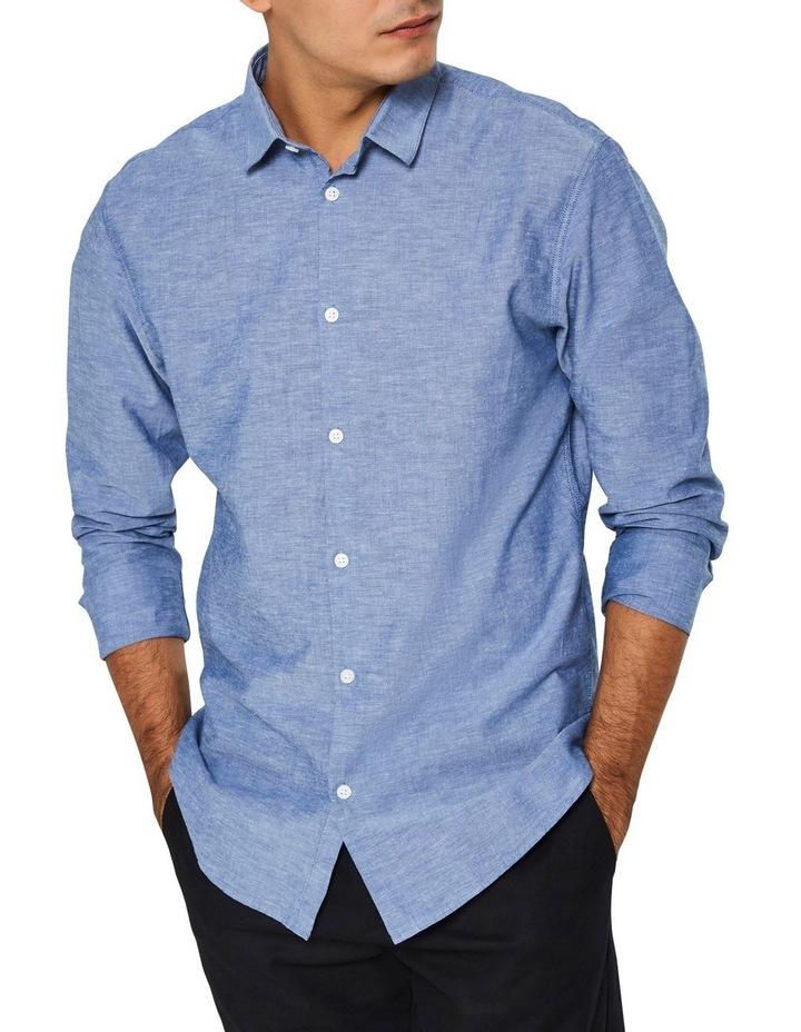 Slim Linen Long Sleeve Shirt image 1